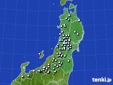 2020年11月28日の東北地方のアメダス(降水量)