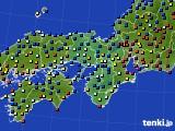2020年11月28日の近畿地方のアメダス(日照時間)