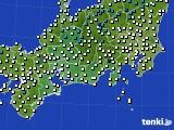 2020年11月28日の東海地方のアメダス(気温)