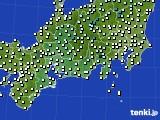 2020年11月29日の東海地方のアメダス(気温)