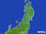 2020年11月30日の東北地方のアメダス(降水量)