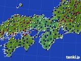 2020年11月30日の近畿地方のアメダス(日照時間)