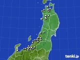2020年12月01日の東北地方のアメダス(降水量)