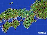 2020年12月01日の近畿地方のアメダス(日照時間)