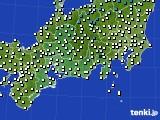 2020年12月01日の東海地方のアメダス(気温)