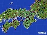 2020年12月02日の近畿地方のアメダス(日照時間)