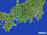2020年12月03日の東海地方のアメダス(風向・風速)