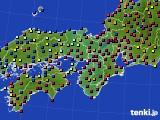 2020年12月04日の近畿地方のアメダス(日照時間)
