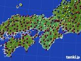 2020年12月05日の近畿地方のアメダス(日照時間)