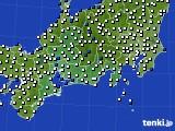 2020年12月05日の東海地方のアメダス(風向・風速)
