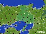 2020年12月28日の兵庫県のアメダス(日照時間)