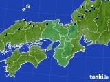 2020年12月30日の近畿地方のアメダス(積雪深)