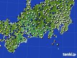 東海地方のアメダス実況(風向・風速)(2020年12月30日)