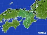 近畿地方のアメダス実況(降水量)(2020年12月31日)