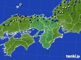 2020年12月31日の近畿地方のアメダス(積雪深)