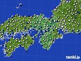 近畿地方のアメダス実況(風向・風速)(2020年12月31日)