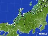 北陸地方のアメダス実況(降水量)(2021年01月01日)