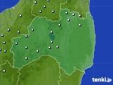 福島県のアメダス実況(降水量)(2021年01月01日)