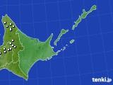 道東のアメダス実況(降水量)(2021年01月01日)