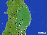 岩手県のアメダス実況(降水量)(2021年01月01日)