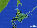北海道地方のアメダス実況(積雪深)(2021年01月01日)