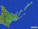 道東のアメダス実況(積雪深)(2021年01月01日)