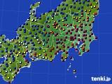 関東・甲信地方のアメダス実況(日照時間)(2021年01月01日)