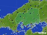 広島県のアメダス実況(日照時間)(2021年01月01日)