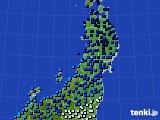 東北地方のアメダス実況(気温)(2021年01月01日)