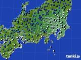 関東・甲信地方のアメダス実況(気温)(2021年01月01日)