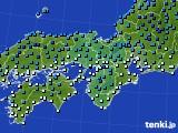 近畿地方のアメダス実況(気温)(2021年01月01日)