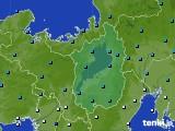 滋賀県のアメダス実況(気温)(2021年01月01日)