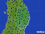 岩手県のアメダス実況(気温)(2021年01月01日)