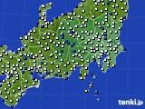 関東・甲信地方のアメダス実況(風向・風速)(2021年01月01日)