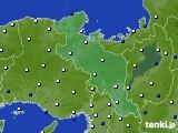 京都府のアメダス実況(風向・風速)(2021年01月01日)