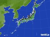 アメダス実況(降水量)(2021年01月02日)