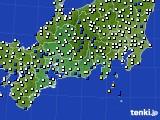 東海地方のアメダス実況(風向・風速)(2021年01月02日)