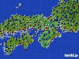 近畿地方のアメダス実況(日照時間)(2021年01月07日)
