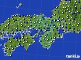 近畿地方のアメダス実況(風向・風速)(2021年01月07日)