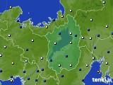 滋賀県のアメダス実況(風向・風速)(2021年01月07日)