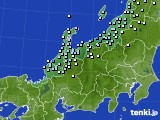 北陸地方のアメダス実況(降水量)(2021年01月08日)