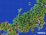 北陸地方のアメダス実況(日照時間)(2021年01月08日)