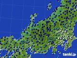 北陸地方のアメダス実況(気温)(2021年01月08日)