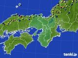 2021年01月09日の近畿地方のアメダス(積雪深)