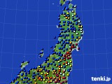 2021年01月09日の東北地方のアメダス(日照時間)