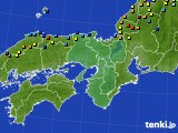 2021年01月10日の近畿地方のアメダス(積雪深)