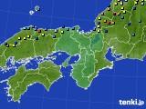 2021年01月12日の近畿地方のアメダス(積雪深)