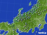 北陸地方のアメダス実況(降水量)(2021年01月16日)