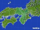 近畿地方のアメダス実況(降水量)(2021年01月16日)