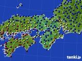 近畿地方のアメダス実況(日照時間)(2021年01月16日)